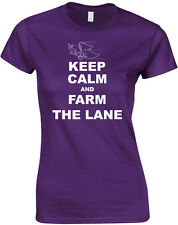 Keep Calm and Farm the Lane, League of Legends Inspired, Ladies Printed T-Shirt