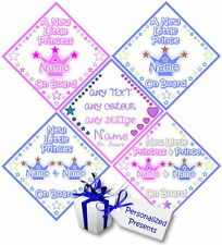 Personalised Baby On Board Car Signs - Newborn Little Prince & Little Princess