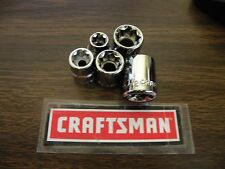 """New Craftsman 3/8"""" or 1/2"""" Drive 8 pt Point SAE Inch In - Star Socket - Any Size"""