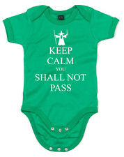 Keep Calm You Shall Not Pass, Lord of the Rings Gandalf Inspired Kids Babygrow