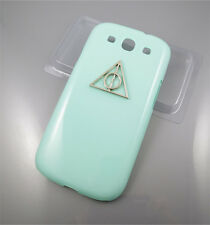 Samsung Galaxy S3 i9300 Deathly Hallows Harry Potter Hard Case Green/Pink Cover