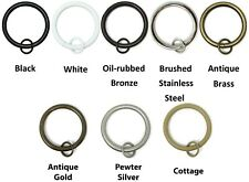 "Urbanest Metal Curtain Drapery Rings with Eyelets,1 1/2"" Inner Diameter set of 7"