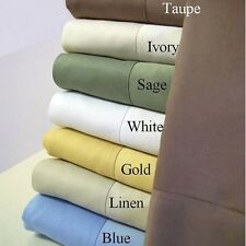 500TC EGYPTIAN COTTON BED SHEET SET SALE 25 COLOR ALL USA SIZE MAKE YOUR CHOICE