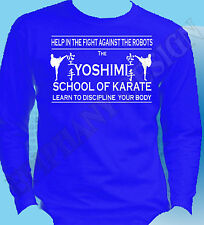 The Flaming Lips Inspired Yoshimi Karate School Wayne Coyne Long Sleeve T-Shirt