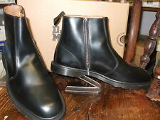 DR. MARTENS FENMORE BLACK POLISHED LEATHER INSIDE ZIP BOOT SIZES 13