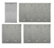 Brushed Finish Stainless Steel Blank Cover, 1 2 3 4 Gang Wall Plate/Face Plate