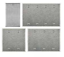 Brushed Finish Stainless Steel Blank Cover 1 2 3 4 Gang Wall Plate/Face Plate