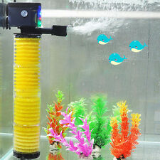 3 in 1 Multi Function Aquarium Fish Tank Internal Filter Pump Oxygenation 3-LED