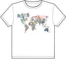 CURRENCY MAP OF THE WORLD T-SHIRT TEE PICTURE PHOTO money euro pound globe 23