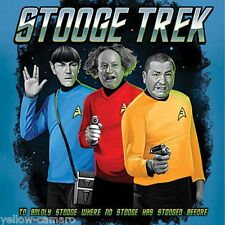 The 3 Three Stooges STAR TREK / STOOGE TREK T Shirt, Sizes M - 3XL, Fun Gift