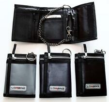 *NEW* LORENZ CANVAS chain wallet in BLACK GREY or NAVY  *Fast Free UK Delivery*