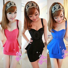 New Women Sexy Casual Sleeveless Party Evening Cocktail Mini Dress 4 Color