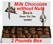 2 Pound See's Candies Milk Chocolates without Nuts Candy Pick Flavor + Free Wrap