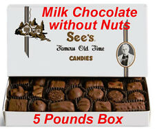 5 Pound See's Candies Milk Chocolates without Nuts Candy Pick Flavor + Gift Wrap