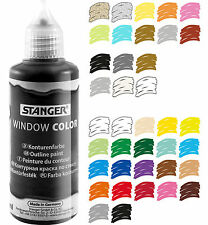 (100ml=3,31EUR) Window Color Farbe, Glasmalfarbe 80 ml - Sonderfarben + Konturen