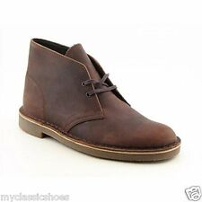 CLARKS BUSHACRE 2 DARK BROWN MEN'S LEAHTER SHOES / BOOT Style 34135 MEDIUM NEW