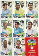 MATCH ATTAX ATTACK WORLD CUP 2010 LIMITED EDITIONS 100 HUNDRED CLUB CARDS ETC !