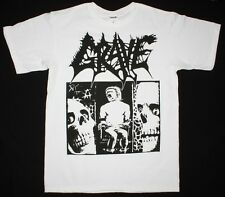 GRAVE TREMENDOUS PAIN'91 DEATH METAL BAND ENTOMBED THERION NEW WHITE T-SHIRT