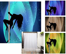Stripper Pole Dancer - Silhouette - Polyester Shower Curtain -  Different Modern