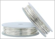 10 FT Fine Silver Round Wire 16-26 Gauge 999 Pure Solid Dead Soft - MADE IN USA