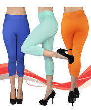 Women's Soho Solid Color Capri Leggings (L0500)