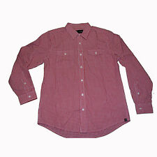 Hurley - Solution L/S Button Up Shirt (Red)  -punk, surf, plaid,skate,streetwear