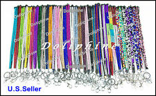 Breakaway Multi Color Rhinestone LANYARD Key Chain for ID Badge Holder/Key/USB