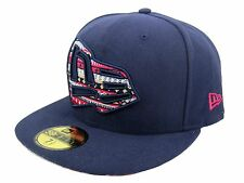 New Era 59FIFTY Pattern Fill Fitted Cap - Navy - Free UK P&P