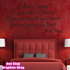 NICKI MINAJ SONG LYRICS WALL ART STICKER - LOUNGE BEDROOM SONG LOVE DECAL