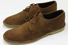 Mens Mid Brown Real Suede Leather Desert Shoes.  UK sizes 6 x 12,