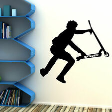 STUNT SCOOTER wall art vinyl room sticker transfer decal childrens bedroom