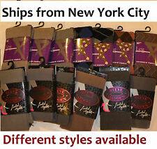 Steve Madden & other brand lady tights socks legging xmas footed footless NY lot
