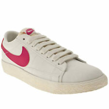 Nike Blazer Lo White Pink Canvas New Womens Trainers Shoes Boots