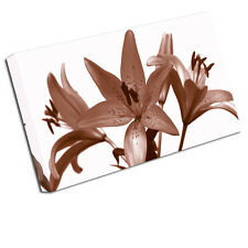 BEIGE LILY CANVAS ART PRINT LIILIES FLORAL WALL ART FLO9