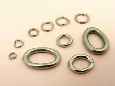 STAINLESS STEEL Open JUMP RINGS Findings  4mm ~ 18mm  ~Round or Oval Style~