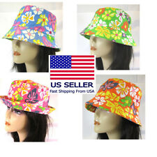 PICK 1 --FLOWER DESIGN BUCKET HAT  GARDENNING HIKING  LINED COTTON --HT29200A
