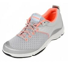 Ladies Dr. Andrew Weil by Orthaheel RHYTHM Silver/Coral Sneaker - FLOOR SAMPLES!