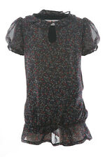 Ditsy Floral Printed Chiffon Top - Girls / Childrens / Kids - Size 7 - 13 Years