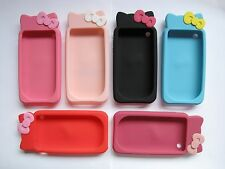 HELLO KITTY BOWKNOT RUBBER SILICONE CASE COVER FOR IPHONE 3 3GS