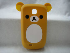 3D Ear Relax Tiny Bear lovely Silicone Cover Case For Samsung Galaxy Mini S5570