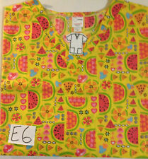 NWOT ST Nurses Medical Print Top 65%/35% Poly Cotton Lt. Weight 6X  Made in USA