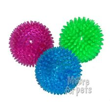 Small Squeaky Dog Ball Made In Soft Rubber & Spikey Choose Bright Colours