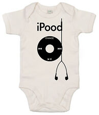 i Pood, MP3 player Funny Cute Babygrow Baby Girl Boy Bodysuit Vest Clothes