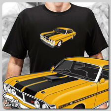 Retro Illustrated Ford Falcon XY GT GTHO T-Shirt, Classic Australian Muscle Car