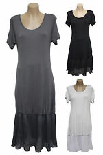 NEW FILO Short Sleeve Cotton Layering Tunic Slip Dress SIZES 8 10 12 14 16 18