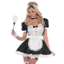 Sexy sassy French Maid Fancy Dress up Waitress Costume outfit 20s Servant