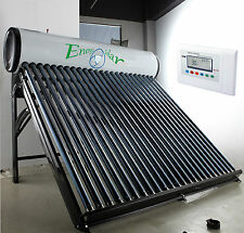 "Solar water heater with ""heat pipe"", Stainless steel tank"