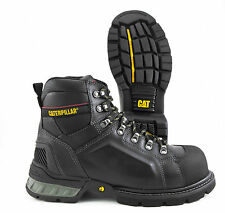 CATERPILLAR EXCAVATOR 6IN BLACK  P90156 STEEL TOE SLIP RESISTANT OIL RESISTANT