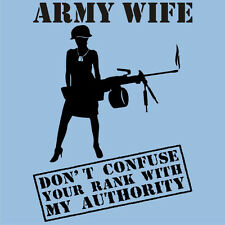 Mother's Day RANK vs. AUTHORITY T-Shirts Officers Enlisted Military Mothers Tees