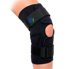 Advanced Hinged Wrap Around Knee Brace Black